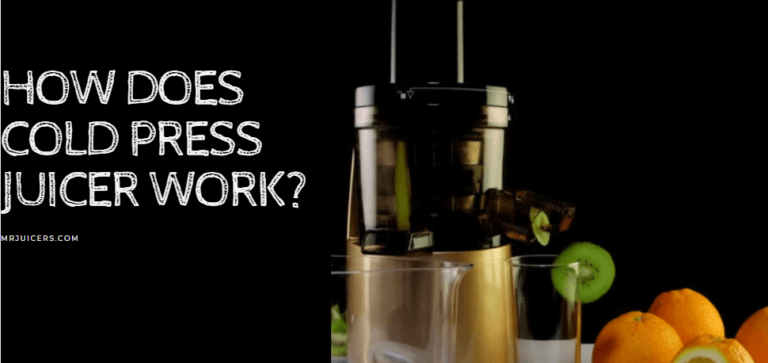 How does a cold press juicer work